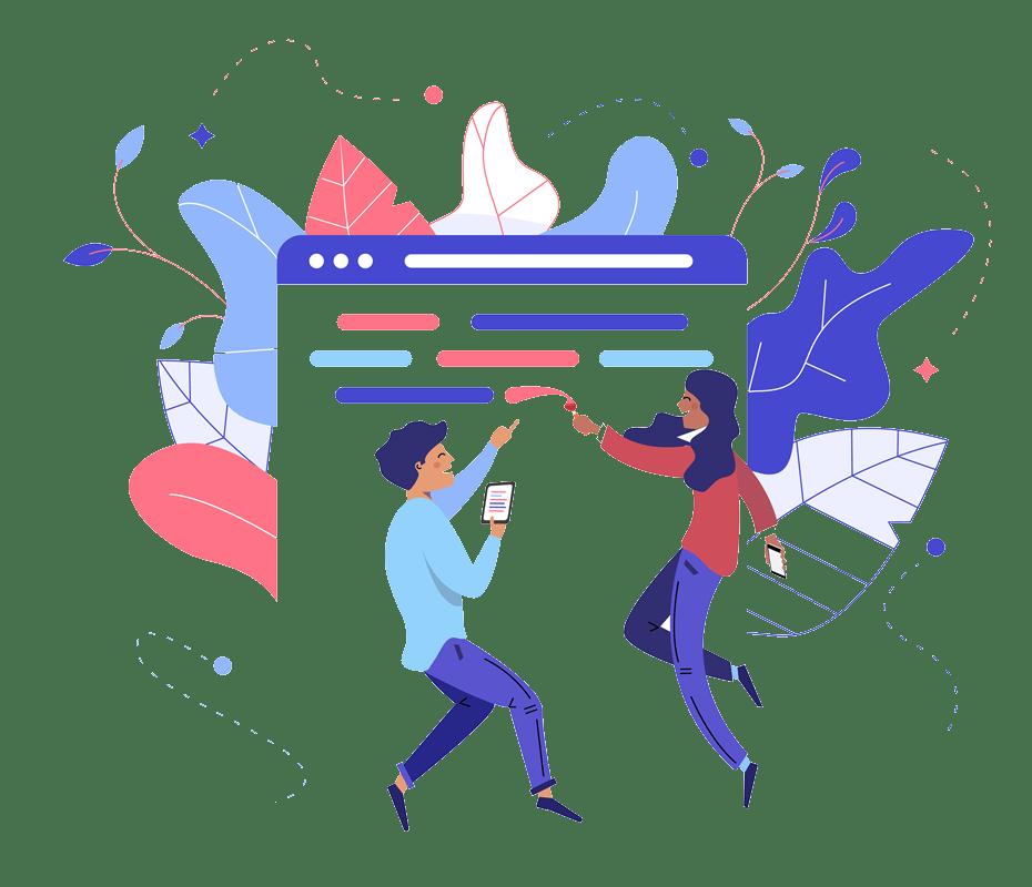 website portfolio illustration